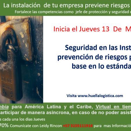 *EN CURSO* Ya inicio el   Jueves 13 de Mayo Seguridad en las Instalaciones Prevención de Riesgos Públicos Ficha 502