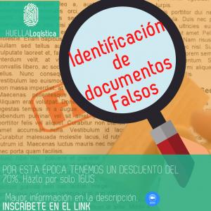 *Proximo a Iniciar*miercoles 28 de Julio  Identificación de Documentos Falsos Ficha 0702